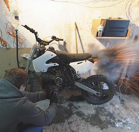 Как завести мотоцикл на раст…