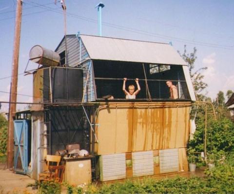 Креативный дом-трансформер от народного умельца