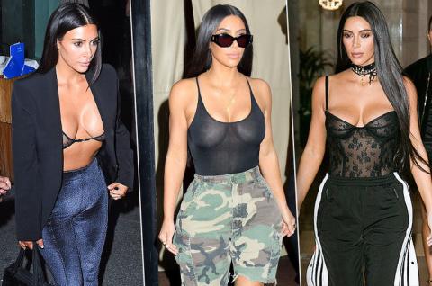 Опять за старое! 7 новых «голых» образов Ким Кардашьян
