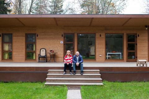 В гостях: Компактный дом на двоих — подарок родителям