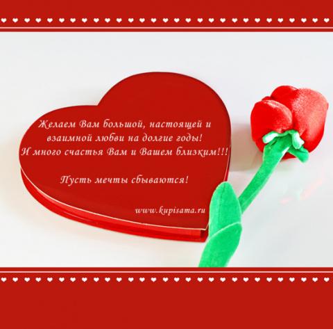 Пусть в мире будет еще больше ЛЮБВИ и счастливых людей!!!