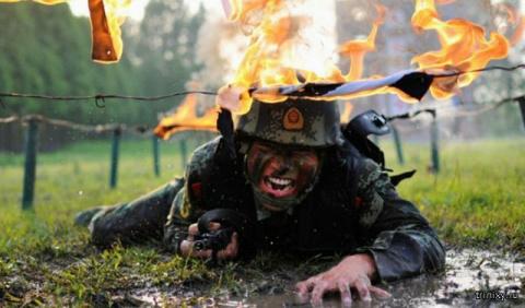 Тренировка солдат в китайско…