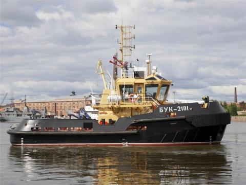 ЛСЗ «Пелла» передал ВМФ России рейдовый буксир БУК-2181