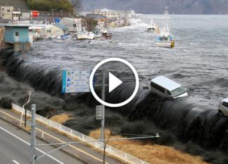 Съемка разрушительного цунам…