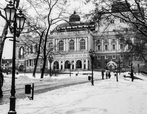 Зимняя Одесса в  объективах …