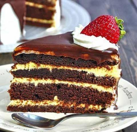 Шоколадный торт соблазн
