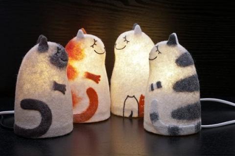 Лампы-котики