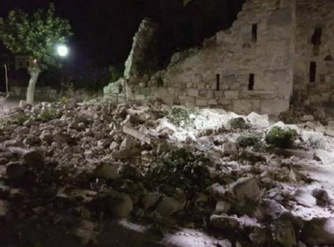 В Греции на острове Кос рухн…