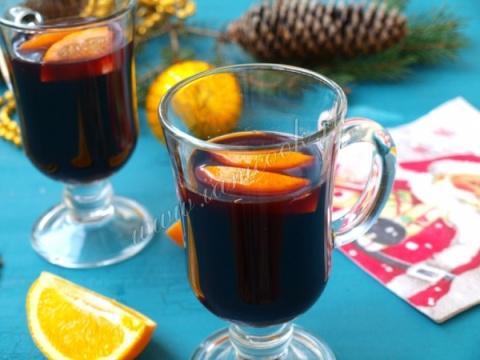 Спиртные напитки. Глинтвейн с апельсином