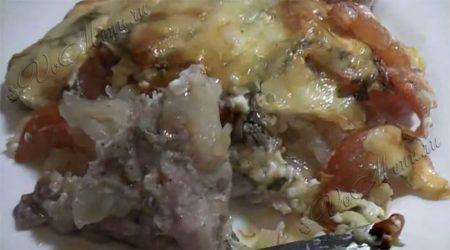 Мясо под шубой в духовке