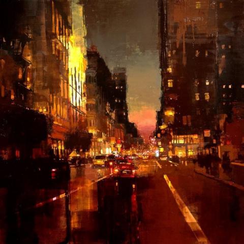 Атмосферные городские пейзажи художника Джереми Манна