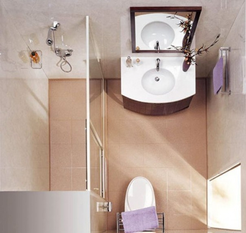 Гениально: идея для маленькой ванной