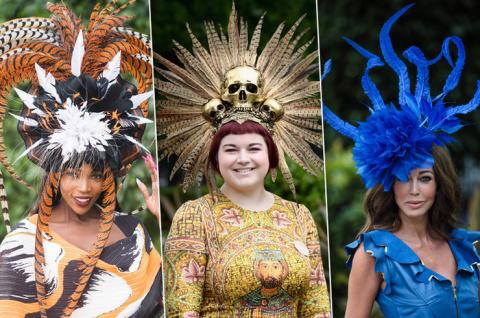 Павлин, черепа и клумба: 30 самых безумных шляп на скачках Royal Ascot