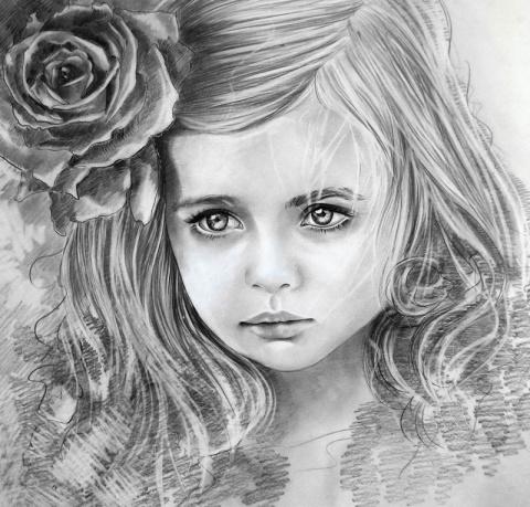Красивые рисунки простым карандашом Вероники Щёголевой