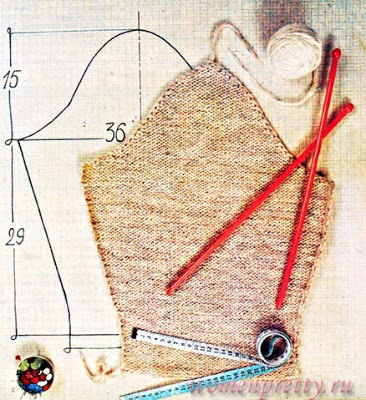 Вязание проймы и втачного рукава