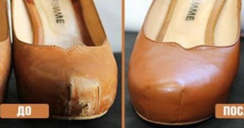 Вот как можно легко починить кожаную обувь, одежду и даже мебель !