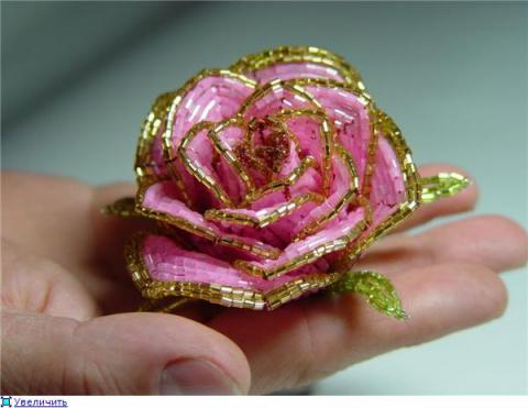 """Роза"""" из бисера"""