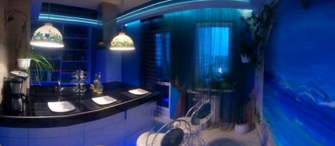 Моя кухня: Морская, с росписью и островом