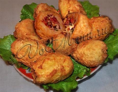 Фаршированная картошка с вет…