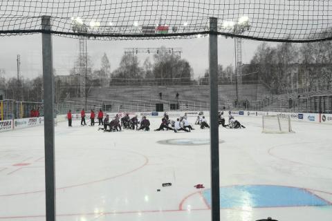 В Риге пройдет матч КХЛ на открытом воздухе