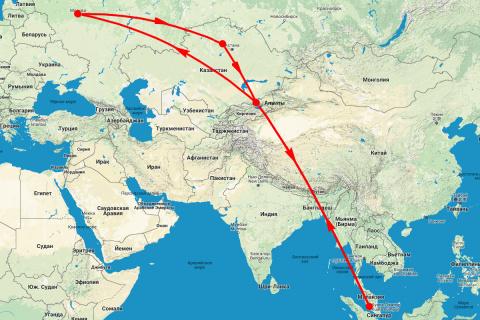 25 часов воздухе c Air Astana