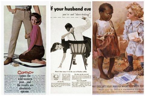 Сексистская и расистская реклама, абсолютно невозможная в наше время