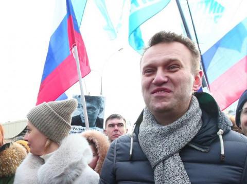 Навального прогнали с митинга в Челябинске