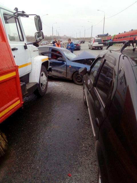 Столкновение с участием уборочной машины в Рязани