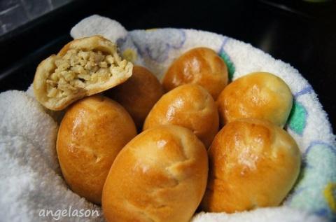 Пирожки печеные с мясом, рис…