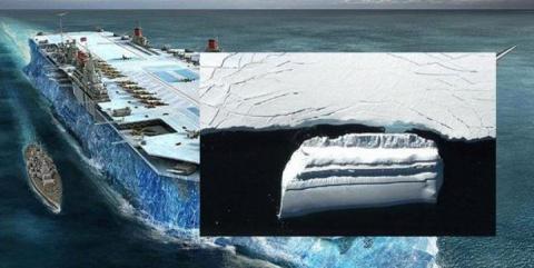 Что-то огромное, замаскированное под айсберг обнаружили в Антарктиде