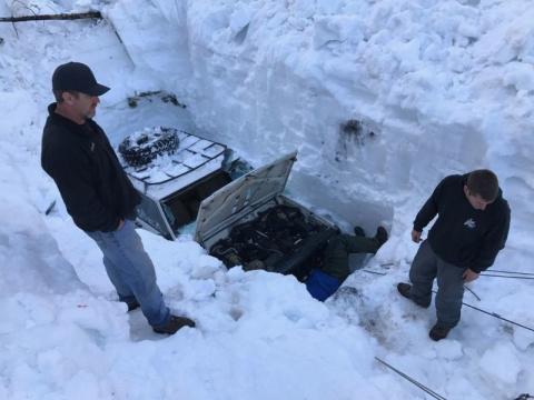 Спасение Джипа из снежного плена