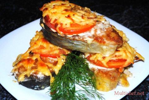 Рыба с помидорами под сыром - вкусно и просто!