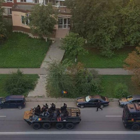 Молдавские карабинеры напуга…
