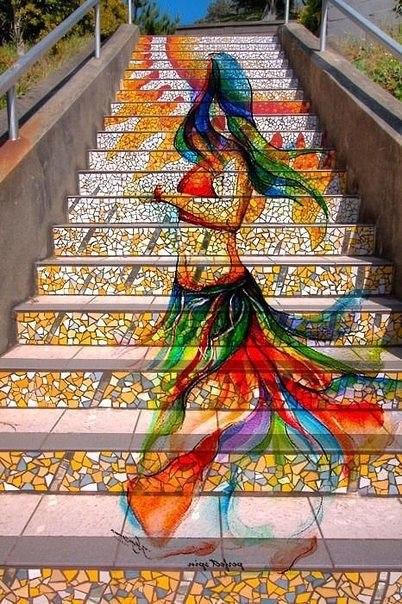 Потрясающие расписные лестницы