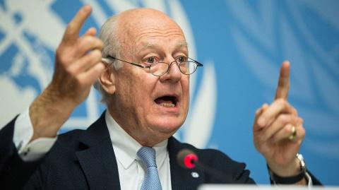 Дамаск обвинил де Мистуру в неспособности руководить переговорами по Сирии