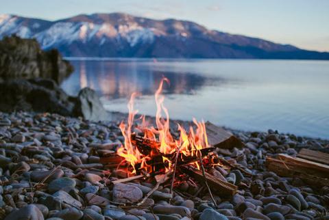Добывание огня из бамбука ме…