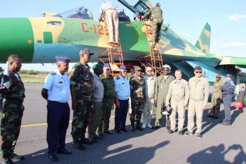 Первые истребители Су-30К в Анголе