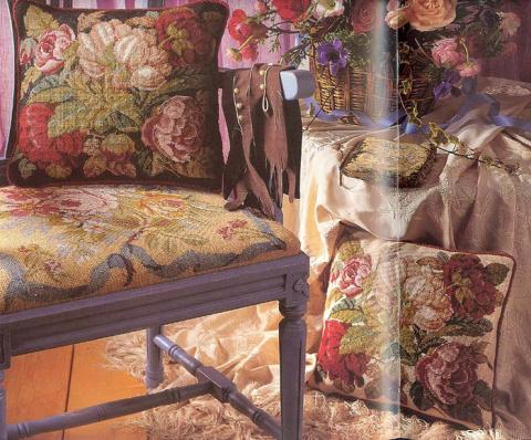 Вышивка крестом — вышивание подушек ( схемы)