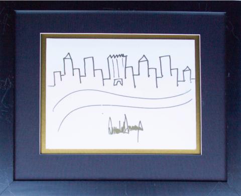 Рисунок, сделанный Трампом, продадут с аукциона за 9000 долларов. Но до Медведева ему далеко