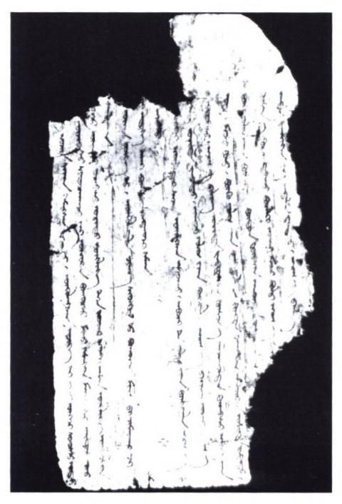 Монгольский фрагмент поучений Чингисхана из Хара-Хото