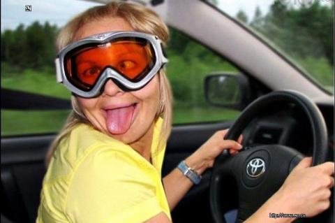 Когда баба за рулем - ей все…