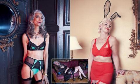 Бабушки-модели рекламируют нижнее белье
