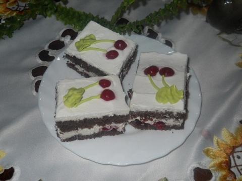 Фото к рецепту: Шварцвальдские пирожные