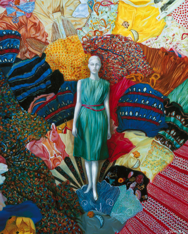 Девушка и ткани или праздник цвета