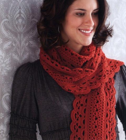 Потрясающе красивый шарф крючком