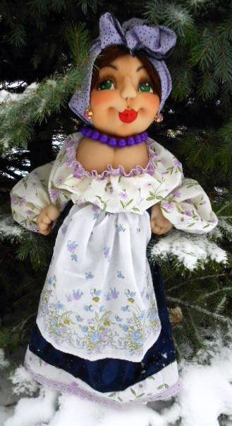 Барельефная кукла - пакетница Солоха