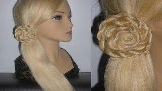 Быстрые красивые причёски. Цветы из волос