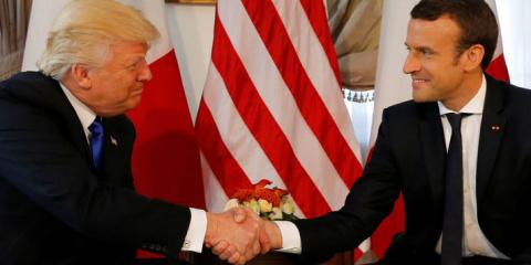 Макрон назвал рукопожатие с Трампом «моментом истины»