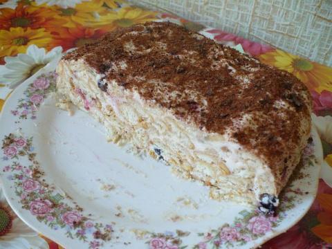 Торт скорый без выпекания