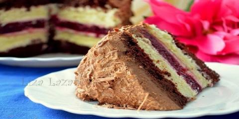 Многослойный торт «Мишель». …
